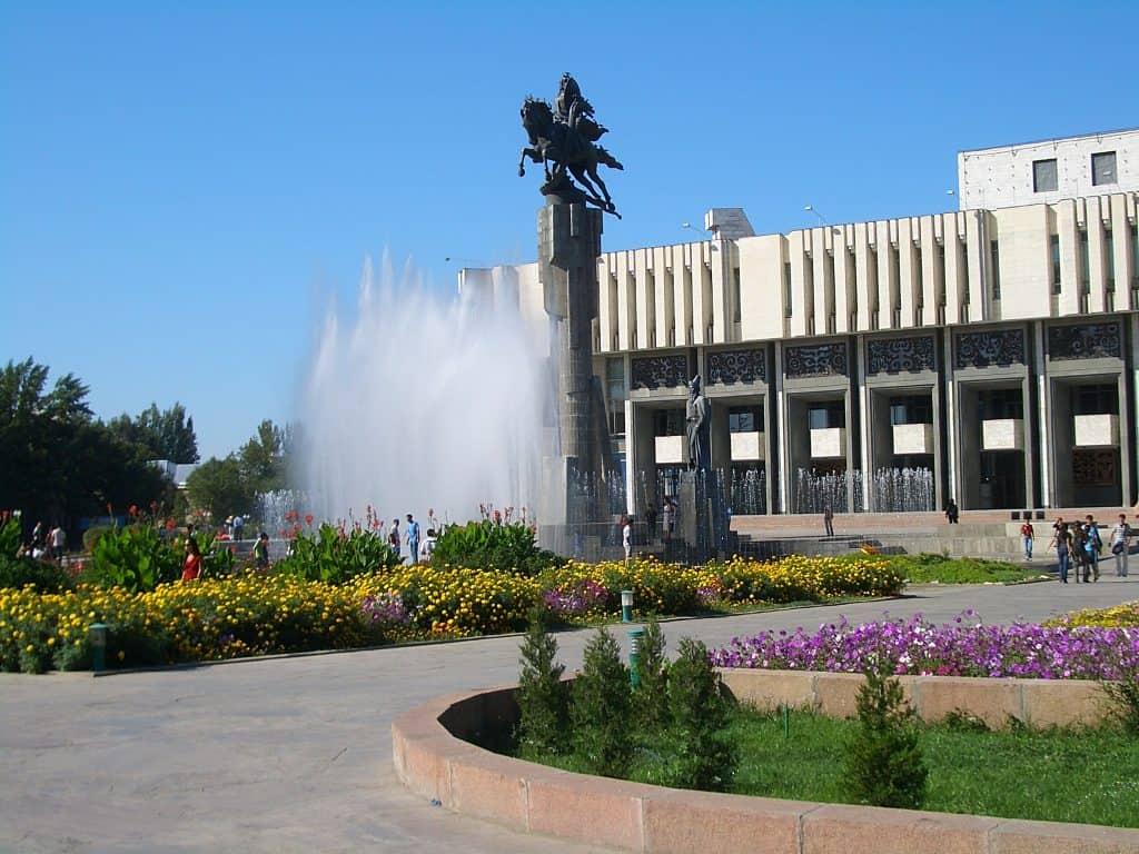 1日目。マナス空港 -ビシュケク