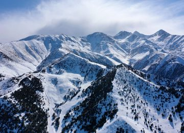 Winter mountains of Kyrgyzstan