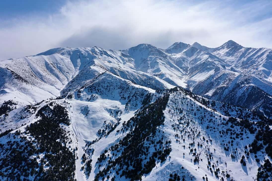 Winter mountains of Kyrgyzstan